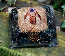 Crystal For Negative Energy Protection - Black Obsidian Orgone Orgonite Pyramid