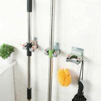 COMMAND BROOM & MOP GRIPPERS Broom Holder ~ DAMAGE FREE HANGING +2 Hooks