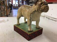 "2007 Jim Shore Enesco Figurine ""Chesty� Bull Dog Heartwood Creek 4009743"