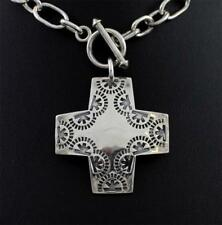Silpada Sterling Silver Virtuosity Cross Toggle Chain Necklace N0557 SEJ