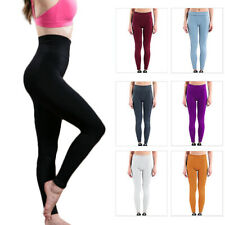 Womens Soft Stretch High Waisted Leggings Long Workout Yoga Pant Fitness Sanwood