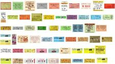 The BEATLES Reproduction Art CONCERT TICKETS - Individual Sale - Use as Bookmark