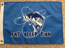 "12""X18"" "" EAT SLEEP DRINK "" DBL SIDED NYLON BOAT FLAG MADE IN USA"