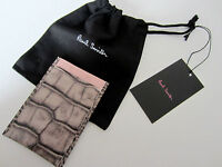 """Paul Smith CC CASE """"REPTILE SKIN LEATHER"""" Travel Pass Credit Business Card Case"""