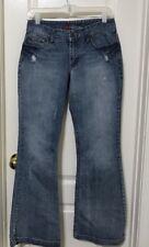 Maurices Women's Premium Denim Decorated Pocket Jeans Size 5/6  Flare Leg A19
