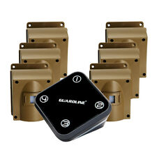 GUARDLINE Wireless Driveway Alarm System w/ Six Motion Alert Sensors Bundle NEW