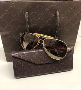occhiali da sole Gucci Bamboo modello Aviatore.