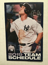 NEW YORK YANKEES TEAM OFFICIAL 2019 POCKET SCHEDULE CALENDAR AARON JUDGE STADIUM