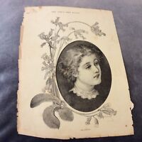 Antique Book Print - The Cowslip - R. Taylor - 1888