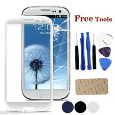 White Samsung Galaxy S3 Mini i8190 Front Outer Lens Glass Touch Screen + Tools