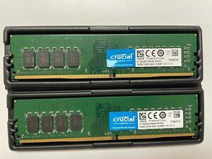 Crucial 16GB DDR4 SDRAM 2400 MHz 288-pin DIMM Memory Module CT16G4DFD824A