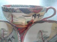 KUTANI SEI JAPANESE GEISHA WARE PORCELAIN CUPS, ( 1868 - 1912 ) MEIJI PERIOD