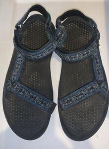 Teva Hurricane Sandals Men's Size 12M Blue Wavy Trail Blue Hook & Loop