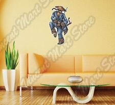 "Japanese Chinese Warrior Sword Hat Asia Wall Sticker Room Interior Decor 16""X25"""