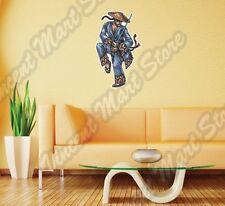 "Japanese Chinese Warrior Sword Hat Asia Wall Sticker Room Interior Decor 16""X25"""