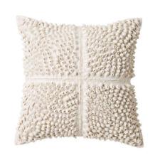 Cotton Blend Geometric Square Decorative Cushions & Pillows