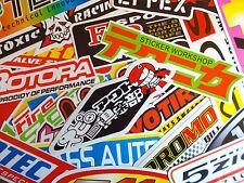 MEGA MIX STICKER Motorsport Racing Sponsoren 50 große Sticker - Reflektierend -
