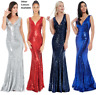 Goddiva Long Sequin Sweetheart Evening Maxi Dress Prom Party RRP £90 Bridesmaid