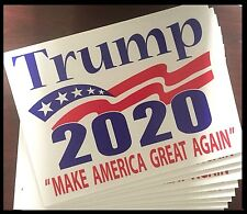 Donald Trump For President 2020 Lg Outdoors Yard Signs 2 sided w/stakes 10 Pack