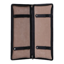 Personalised Mens Leather Travel Tie Case Holder