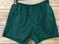 Nike Mens Green Nylon Shorts Size XL Elastic Waist Lined Drawstring Running