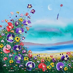 """""""Looking Up"""" - Flowers in Love, a large oil painting on canvas, by Phil Broad"""