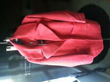 Missguided Lena oversize cocoon red coat size 10