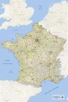 Landkarten - Frankreich - Bildung Educational Poster Plakat - Größe 61x91,5 cm