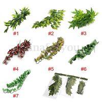Reptile Vivarium Realistic Jungle Silk Plant Vine Decor Small Medium Large New