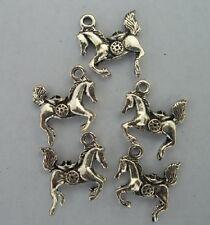 10pcs Tibetan silver horse charms pendant 17x16mm
