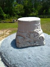 """5"""" ROUND TOP CEMENT/CONCRETE PEDESTAL-BASE-STAND FOR STATUES - STAINED COLORS"""