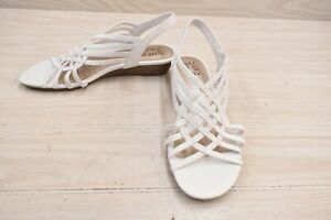 Naturalizer Remix Sandals, Women's Size 8.5 W, White NEW