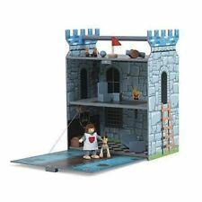 BNIB PLUM kids knights castle wooden fort medieval play with drawbridge RRP £40