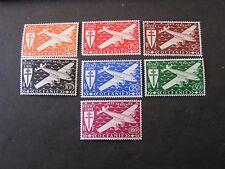 FRENCH POLYNESIA, SCOTT # C3-C9(7) ,COMPLETE SET 1944 AIR POST ISSUE MVLH