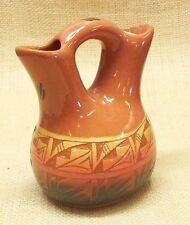Ute Mountain Native American Pottery Small Wedding Vase Navajo Style Design