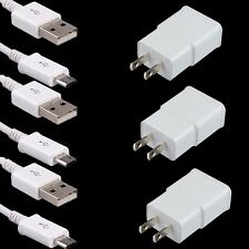 3x Wall Charger + 3x USB Data Cable for Samsung Galaxy J7 J5 Prime J3 V S7 edge