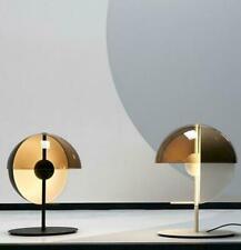 Post Modern Novelty Glass Shade Sun Pattern Table/ Desk Lamp Black/ White Finish
