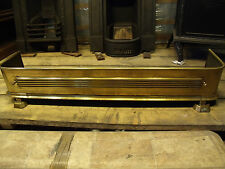 heavy brass fireplace fender