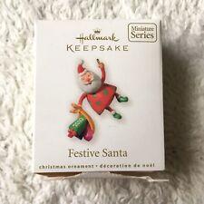 Hallmark Keepsake Festive Santa Miniature Ornament