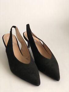 Corelli Black Kitten Heel Shoes Size 40