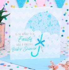 Personalised Handmade Baby Shower Card, Boy