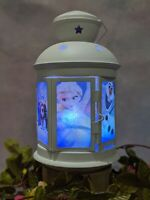 Frozen inspired Lamp, xmas gift, Disney lamp, 6 sided character lantern