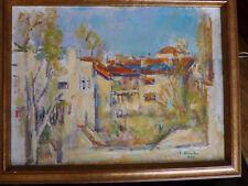 Ion MUSCELEANU (1903-1997)  Village ... sur carton 1991