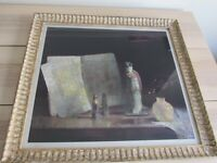 Hovsep Pushman Signed Framed Lithograph The Golden Scriptures w/ Stamp