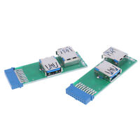 Internal Mainboard 2 Ports USB 3.0 Female to 20 Pin Female Header Adapter TP