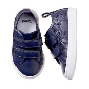 NWT GYMBOREE Spring Forward Navy Blue Star Sneakers Shoes Toddler Girls