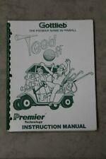 Gottlieb Tee'D Off Pinball Machine Manual & Schematics - Used Original