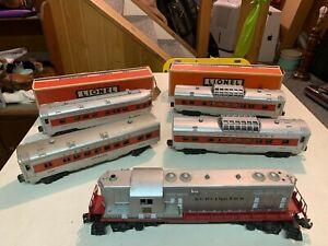 Lionel Postwar - 2328 Burlington GP-7 plus 2442, 2442, 2444, 2446 Passenger Cars
