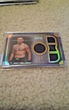 2019 Topps UFC Museum Max Holloway Gold Event Worn Quad Relic Card 9/25 SP