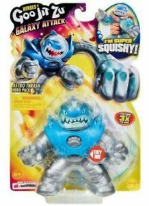 GALAXY ATTACK Goo Jit Zu ASTRO THRASH  Shark HELMET VISOR Squishy Figure READ!!!